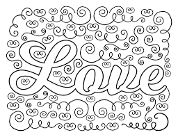 Love Coloring Pages Sheets Tryonshorts Download