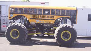 Funny School Bus Monster Truck Wallpaper | (79348)
