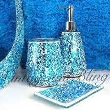 Beach Glass Bath Accessories by Blue Glass Bathroom Accessories Valentineblognet Light Blue Glass