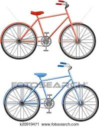 Clipart Of Two Bikes On A White Background K20919471