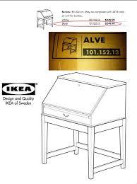 ikea alve bureau still in box black ikea alve desk in cobble hill