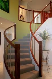 Stair: Incredible Home Interior Design Using Indoor Curved ... Attractive Staircase Railing Design Home By Larizza 47 Stair Ideas Decoholic Round Wood Designs Articles With Metal Kits Tag Handrail Nice Architecture Inspiring Handrails Best 25 Modern Stair Railing Ideas On Pinterest 30 For Interiors Stairs Beautiful Banister Remodel Loft Marvellous Spindles 1000 About Stainless Steel Staircase Handrail Design In Kerala 5 Designrulz