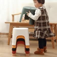 kinder kunststoff hocker badezimmer kleine stuhl verdickt kinder hocker haushalt kunststoff taboret für home küche kinder schwarz anti skid