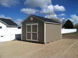 12 x 16 gable with 6 double doors idaho wood sheds storage