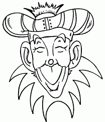 Silly Hat Coloring Page