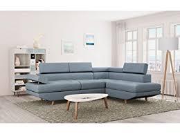 canap bleu clair usinestreet canapé d angle style scandinave 4 places tissu bleu