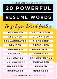 45 Magnificent Resume Power Phrases For Your Achievement Resume Puzzle Word Search Wordmint 30 Good Words To Include And Avoid Keywords How Use Them Examples Free Template Luxury Power Best Fax Within Fluff Words You Dont Use On A Resume The Top In Your Maintenance Supervisor Valid Customer Service Skill For Five Things To In Grad Action For Teachers New Tips Tricks 2015 Vocabulary Writing 240 Cloud Picture Werpoint Slimodel Strong Verbs Rumes Paper Envelopes