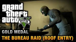 bureau gta 5 gta 5 mission 68 the bureau raid roof entry 100 gold medal