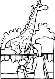 Giraffe Coloring Pages For Adults Family Zoo Look Page Picture Printable Online Full Size