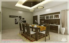 Dining Room Wooden Single Gallery Hall Round Design Kerala