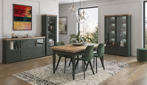 esszimmer set evora esszimmergarnitur 4 teilig grün eiche lefkas landhaus stil