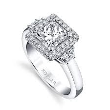 Classico princess cut engagement ring Harry Kotlar