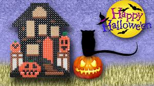 Halloween Hama Bead Patterns by 3d Casa Stregata Di Halloween Hama Beads Halloween House Perler