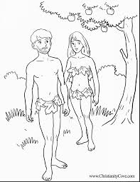 Fantastic Adam And Eve Bible Coloring Pages With Printable