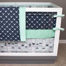 Mint Green Crib Bedding by Modern Crib Bedding Custom Baby Bedding Unique Crib Bedding