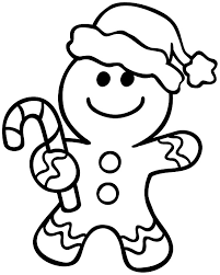 Gingerbread Man Coloring Photo In Pages