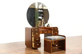 Birdseye Maple Vanity Dresser by Sold Art Deco 1940 Vintage Dressing Table Or Vanity Mirror