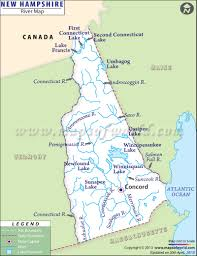 New Hampshire River Map Outline On The Us Political