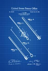 surgical instrument patent 1902 doctor office decor nurse gift
