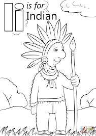 Click The Letter I Is For Indian Coloring Pages To View Printable