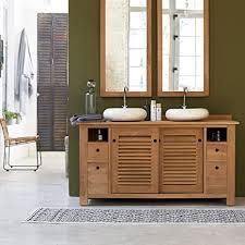 massiv teak natur holz unterschrank wash stand badezimmer