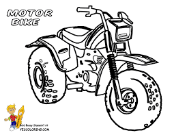 Easy Motorbike Coloring At YesColoring