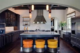 orange counter stool kitchen contemporary with kitchen tv orange