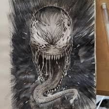 Venom Dibujo Blanco Y Negro