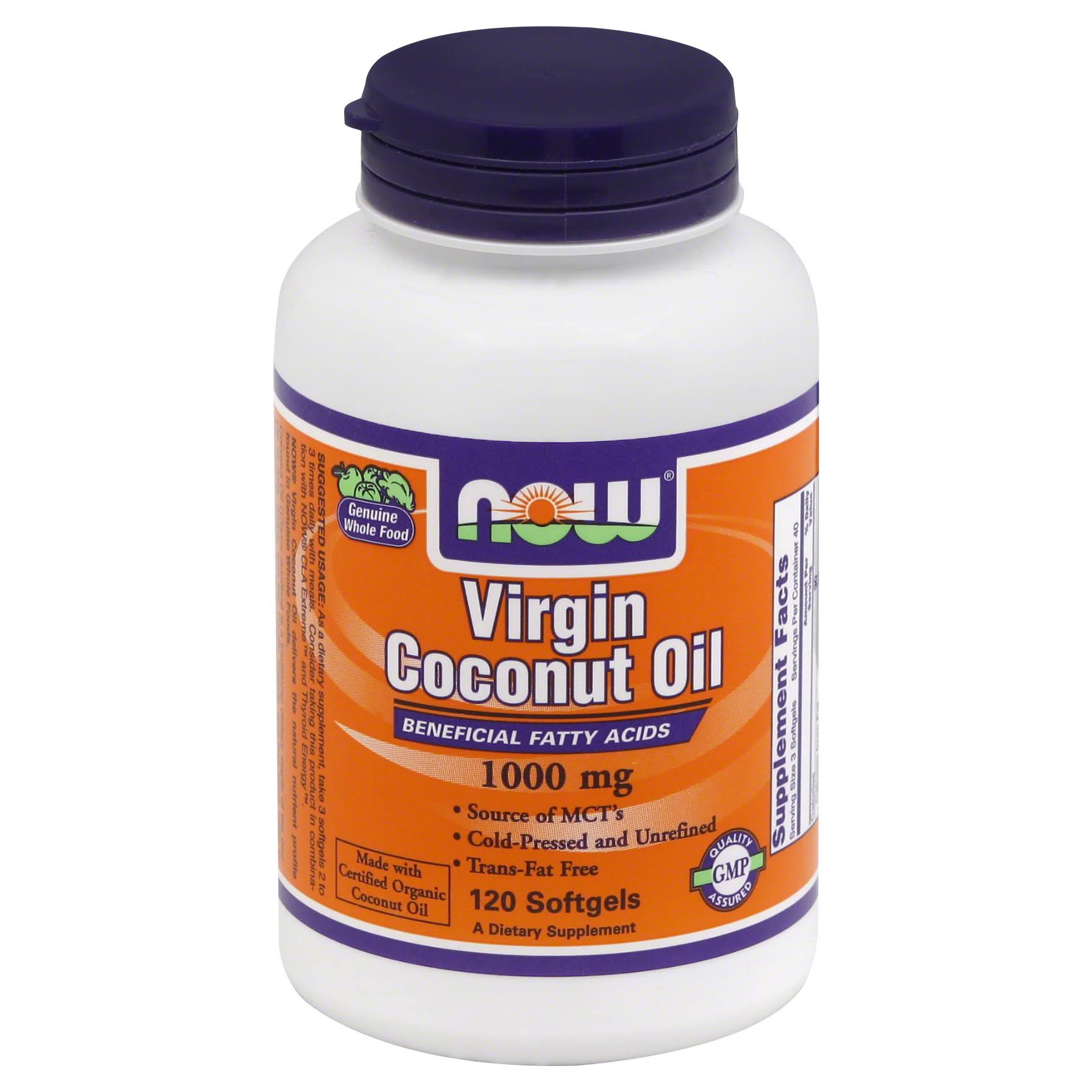 Now Foods Virgin Coconut Oil - 120 Softgels