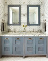 Chandelier Over Bathroom Vanity by Our Favorite Bathrooms
