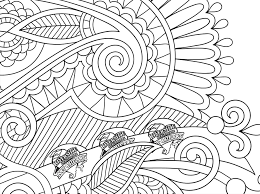 Unique Coloring Book Page For Adults