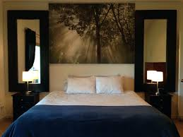 Headboard Canvas Our New Master Bedroom Decor Layout That Reminds Me Of A Hotel We Mirror