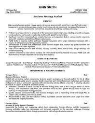 Business Strategy Analyst Resume