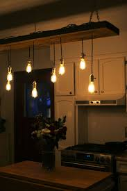 diy reclaimed lumber hanging edison bulb chandelier unmaintained