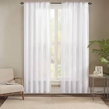 gardinen schals mit stickerei vorhänge schlafzimmer
