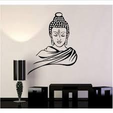 wandaufkleber buddha religiöse wandtattoos wohnzimmer tv