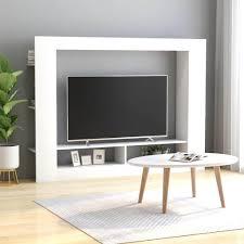 wohnzimmer anbauwand wohnwand wohnwände wohnschränke 152x22x113cm in weiß mit viel stauraum