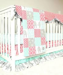 Coral And Mint Baby Bedding by Baby Crib Skirts Baby Bedding Coral Mint And Grey