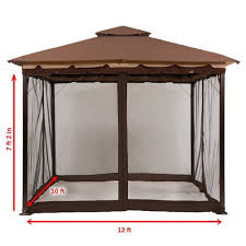 Gazebos - Umbrellas, Canopies & Shade : Patio Furniture : Amazon.com Garden Sunjoy Gazebo Replacement Awnings For Gazebos Pergola Winds Canopy Top 12x10 Patio Custom Outdoor Target Cover Best Pergola Your Ideas Amazing Rustic Essential Callaway Hexagon Patios Sears
