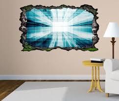 3d wandtattoo 3d effekt tür durchgang blau tunnel muster hintergrund energie selbstklebend wandbild wandsticker wohnzimmer wand aufkleber 11o109