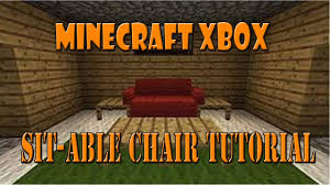 Minecraft Living Room Ideas Xbox by Minecraft Xbox Sit Able Chair Tutorial Youtube