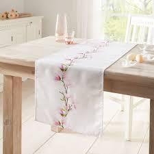 tischläufer magnolienranke textil deko wohnzimmer esszimmer terrasse garten outlet trends