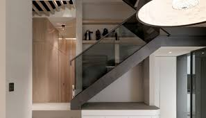 Artsy Modern Stairs Ideas With Curvy Metal Banister And Black ... Stairs Amusing Stair Banisters Baniersglsstaircase Create Unique Metal Handrailings With Pinnacle Staircase And Hall Contemporary Artwork Glass Banister In Best 25 Glass Balustrade Ideas On Pinterest Handrail Wwwstockwellltdcouk American White Oak 3 Part Dogleg Flight Frameless Stair Railing Elegant Safety Architecture Inspiring Handrails For Beautiful Amusing Stright Banister With Base Frames As Decor Tips Cool Banisters Ideas And Newel Detail In Brown