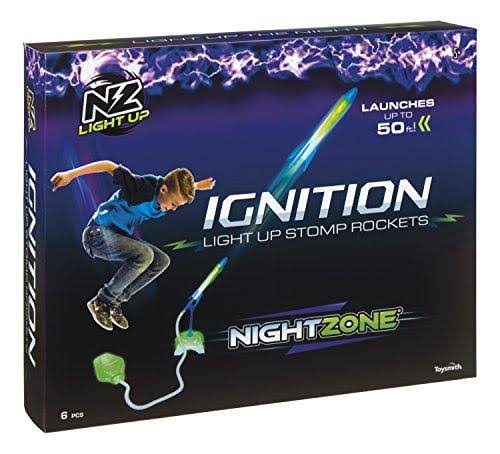 Toy Investments Nightzone Ignition Light Up Stomp Rockets