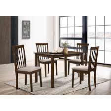 DT-1120 5 Pcs Dining Table Set,Dark Walnut Color,Table 27.6 ...