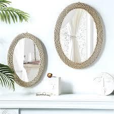 rattan runde spiegel vintage dressing make up spiegel badezimmer wand montiert quadratischen spiegel rahmen kunst eitelkeit b b wohnzimmer decor