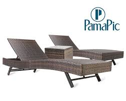 Shop For 3 PCS Outdoor Patio Chaise Lounge Chair Set, PamaPic PE ... China Outdoor Pe Rattan Fniture Chaise Lounge Chair With Ottoman Wicker Adjustable Pool Patio Convience Boiqueoutdoor Giantex 4 Position Porch Recliner Brown Couch Set Of 2 Allweather Folding Chairs W Hanover Gramercy And Table Berkeley Best Office Round And Thrghout Rattan Chaise Lounge Bimsissaorg