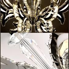 8 arme moderne led kristall kronleuchter luxus villa