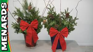 Christmas Trees At Menards by Christmas Porch Planters How To Make Menards Youtube