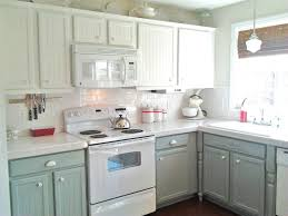 Kitchen Endearing Painted Kitchen Cabinets Two Colors Painted